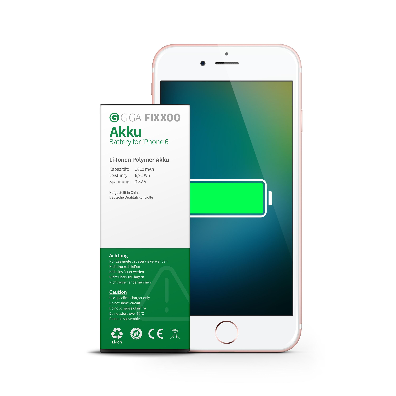 iphone 6 akku von giga fixxoo ersatz batterie wechseln tauschen ebay. Black Bedroom Furniture Sets. Home Design Ideas